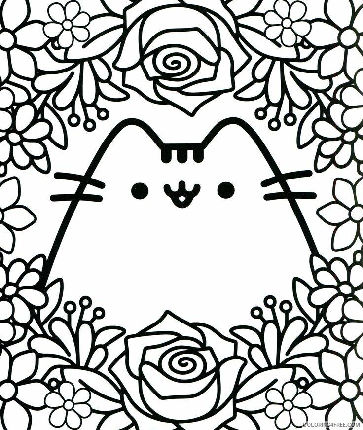 Kawaii Coloring Pages Cute Cat Kawaii Printable 2021 3664 Coloring4free