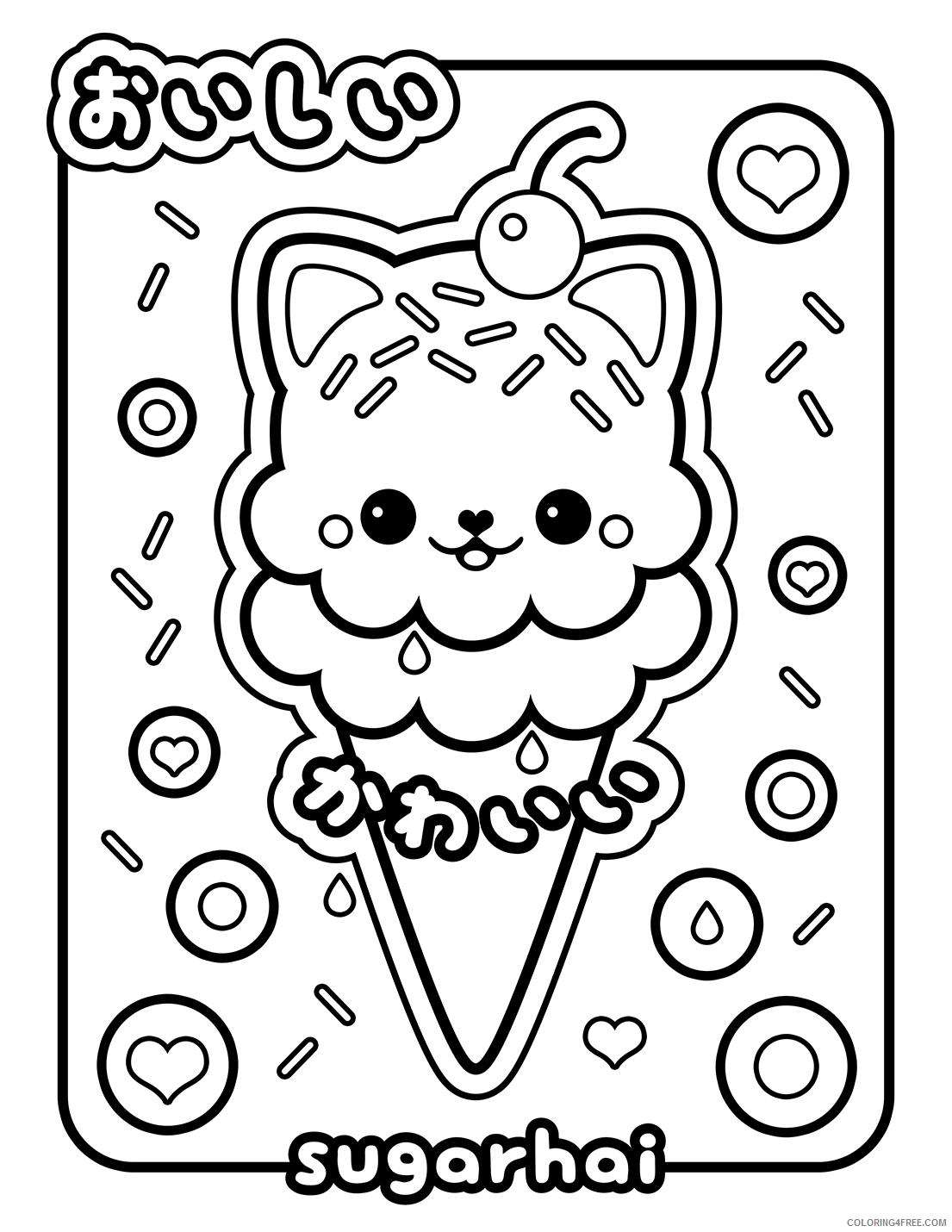 Kawaii Coloring Pages Kawaii Ice Cream Printable 2021 3689 Coloring4free