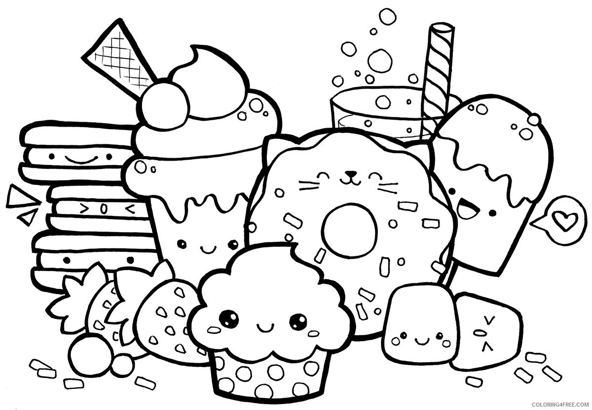 Kawaii Coloring Pages Kawaii to Print Printable 2021 3683 Coloring4free
