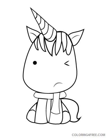 Kawaii Coloring Pages unicorn Printable 2021 3657 Coloring4free