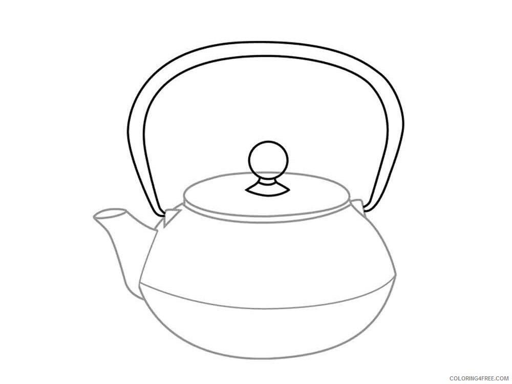 Kettle Coloring Pages kettle 1 Printable 2021 3693 Coloring4free