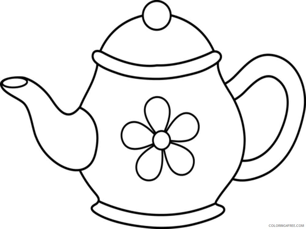 Kettle Coloring Pages kettle 10 Printable 2021 3694 Coloring4free