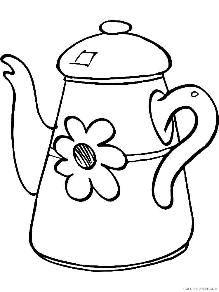 Kettle Coloring Pages kettle 7 Printable 2021 3697 Coloring4free