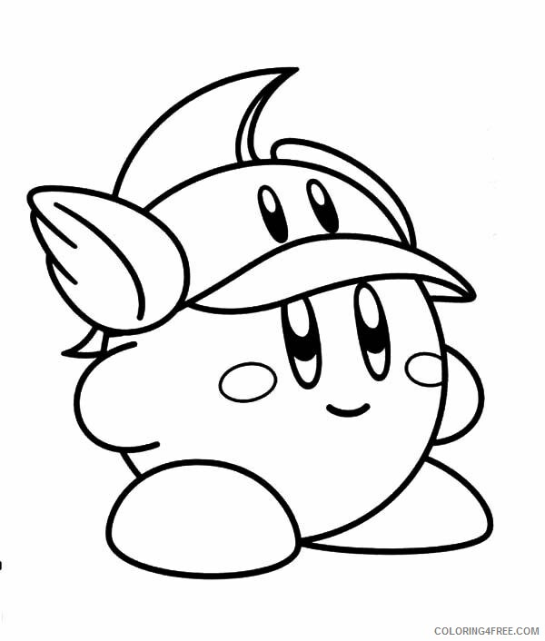 Kirby Coloring Pages cutekirby Printable 2021 3704 Coloring4free