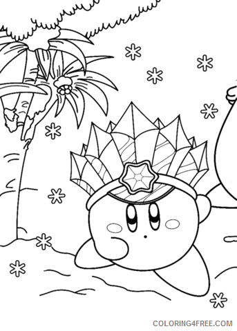 Kirby Coloring Pages ice kirby Printable 2021 3708 Coloring4free
