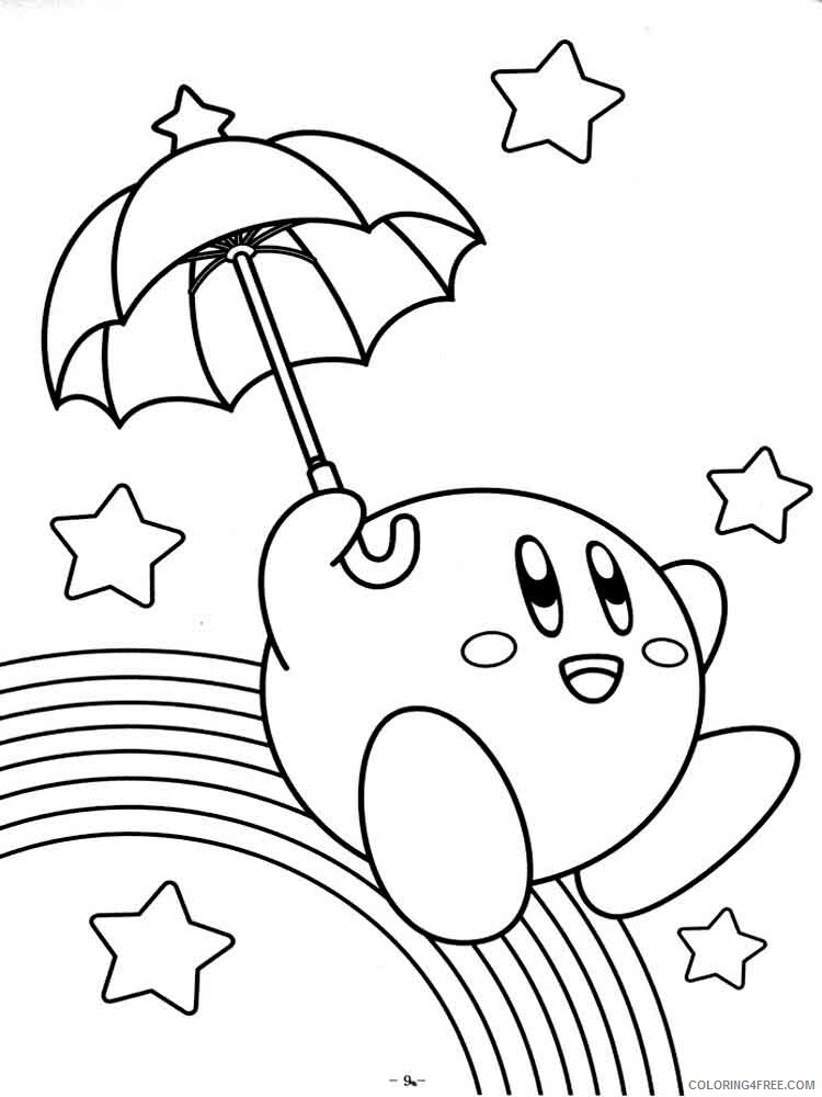 Kirby Coloring Pages kirby 6 Printable 2021 3723 Coloring4free