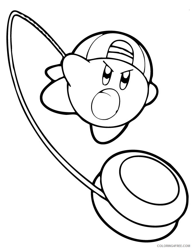 Kirby Coloring Pages kirby yoyo Printable 2021 3731 Coloring4free