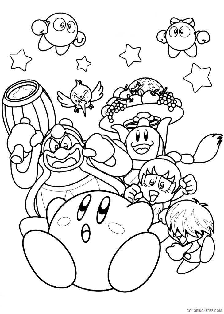 Kirby Coloring Pages nintendo kirby Printable 2021 3734 Coloring4free