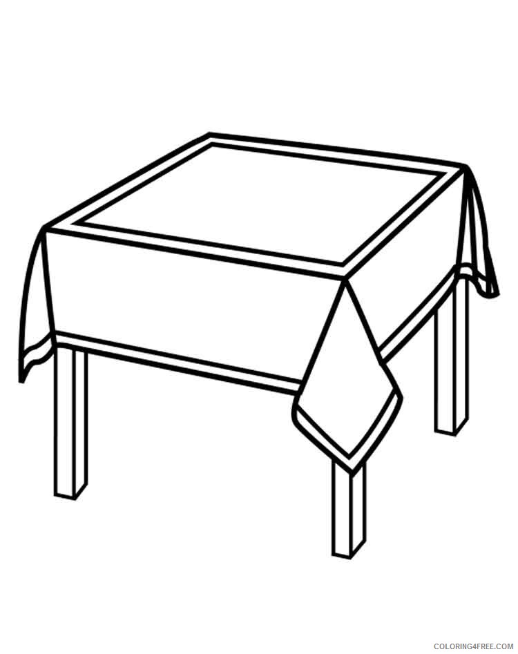 Kitchen Table Coloring Pages Kitchen Table 11 Printable 2021 3736 Coloring4free