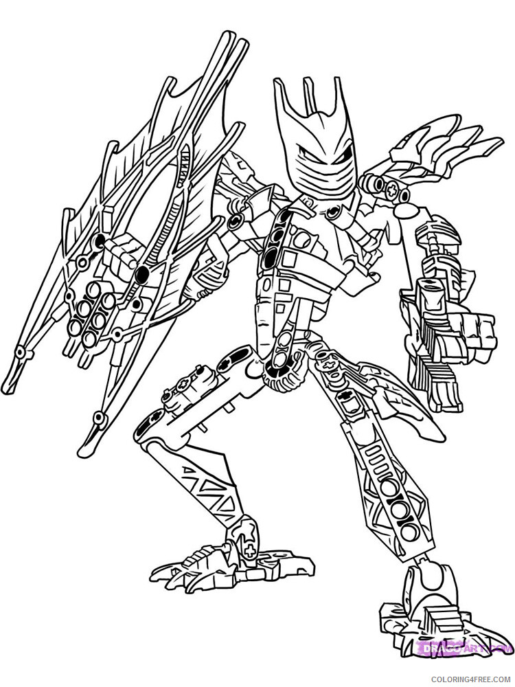 LEGO Bionicle Coloring Pages bionicle for boys 14 Printable 2021 3783 Coloring4free