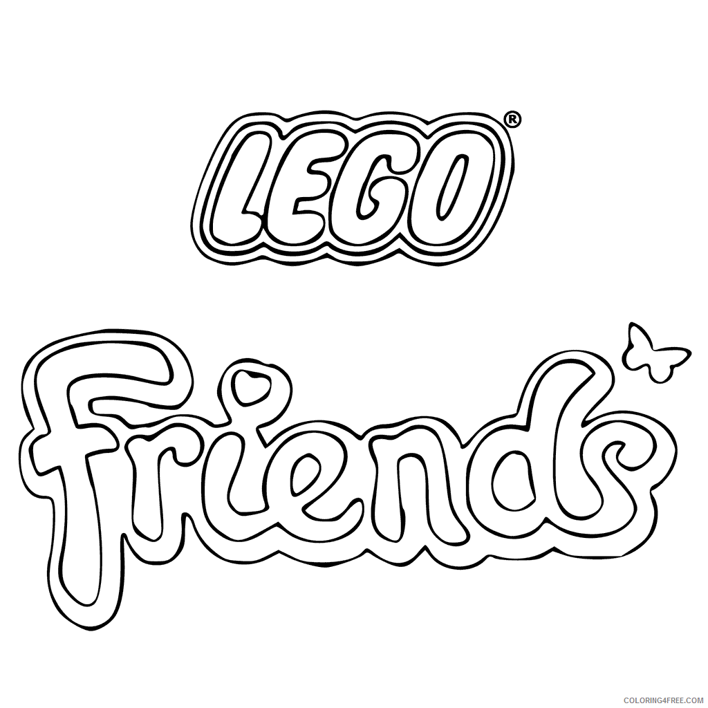 LEGO Friends Coloring Pages Lego Friends Logo Printable 2021 3801 Coloring4free