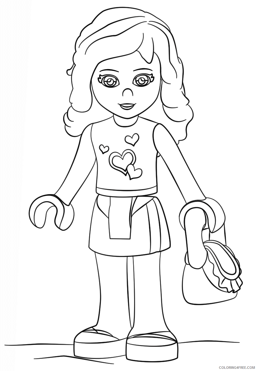 LEGO Friends Coloring Pages lego friends olivia Printable 2021 3803 Coloring4free