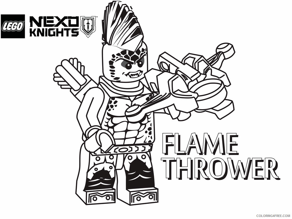 LEGO Nexo Knights Coloring Pages lego nexo knight for boys 10 Printable 2021 3810 Coloring4free