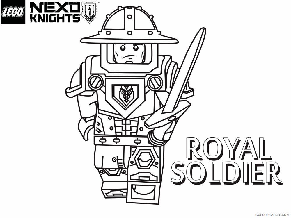 LEGO Nexo Knights Coloring Pages lego nexo knight for boys 19 Printable 2021 3819 Coloring4free