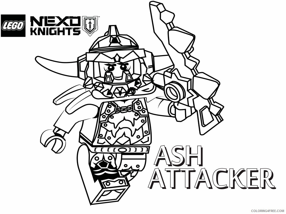 LEGO Nexo Knights Coloring Pages lego nexo knight for boys 2 Printable 2021 3820 Coloring4free