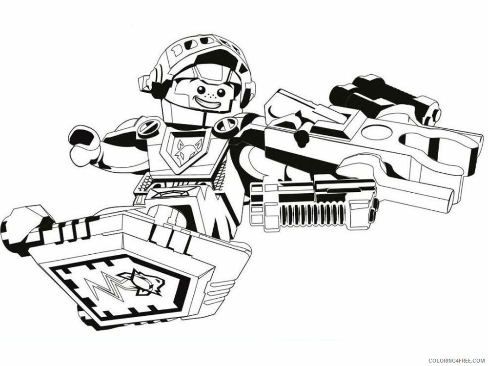 LEGO Nexo Knights Coloring Pages lego nexo knight for boys 23 Printable 2021 3824 Coloring4free
