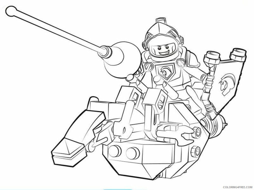 LEGO Nexo Knights Coloring Pages lego nexo knight for boys 27 Printable 2021 3828 Coloring4free