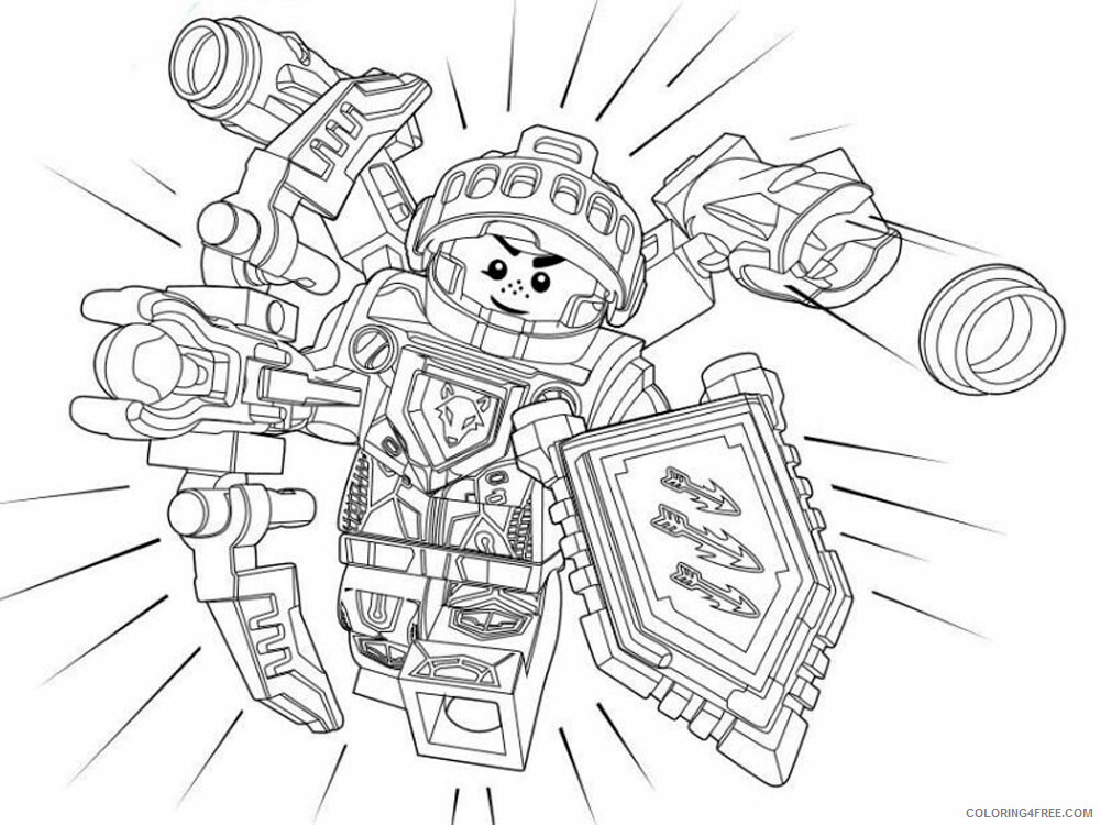 LEGO Nexo Knights Coloring Pages lego nexo knight for boys 28 Printable 2021 3829 Coloring4free