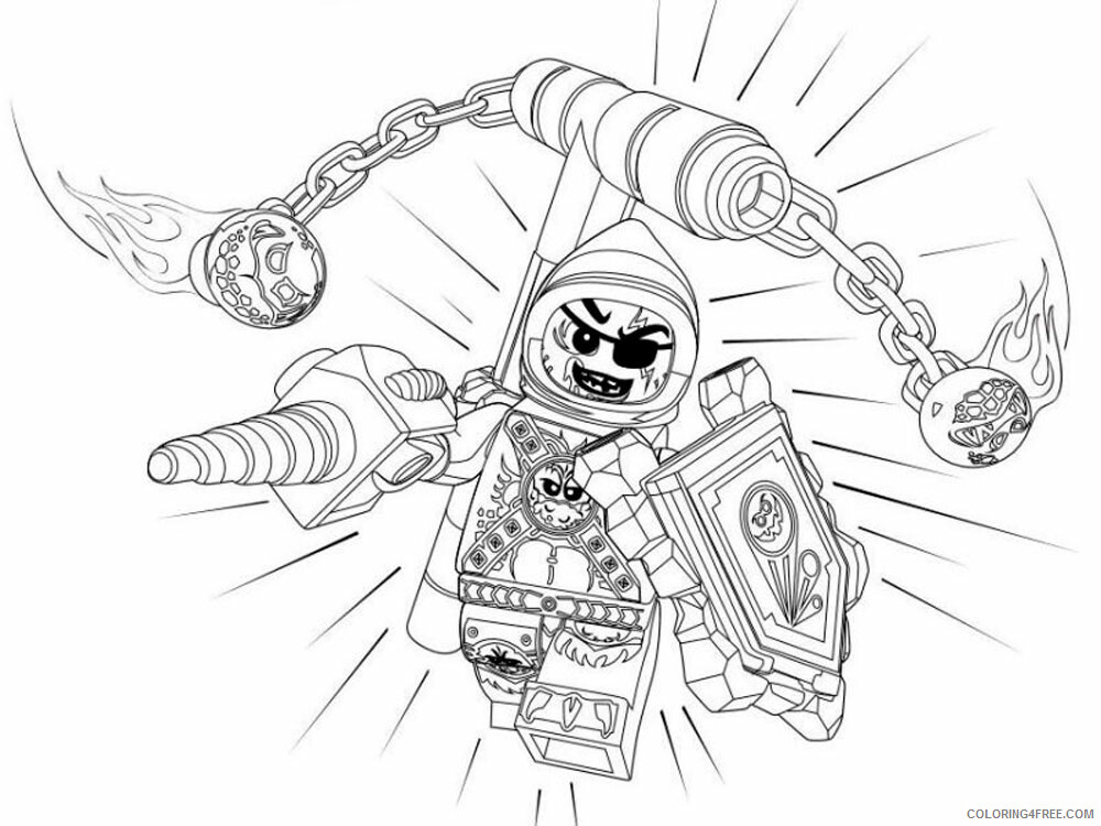 LEGO Nexo Knights Coloring Pages lego nexo knight for boys 29 Printable 2021 3830 Coloring4free
