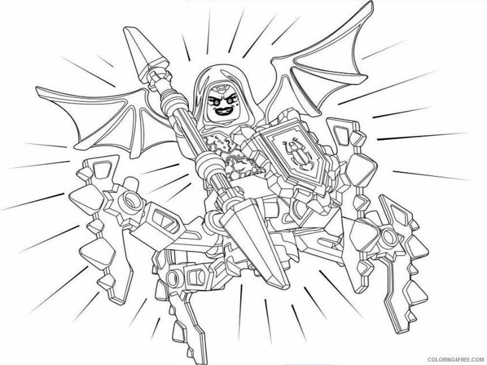 LEGO Nexo Knights Coloring Pages lego nexo knight for boys 30 Printable 2021 3832 Coloring4free