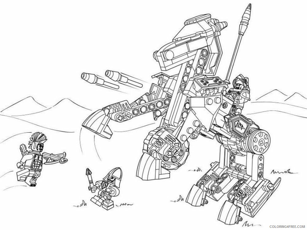 LEGO Nexo Knights Coloring Pages lego nexo knight for boys 31 Printable 2021 3833 Coloring4free