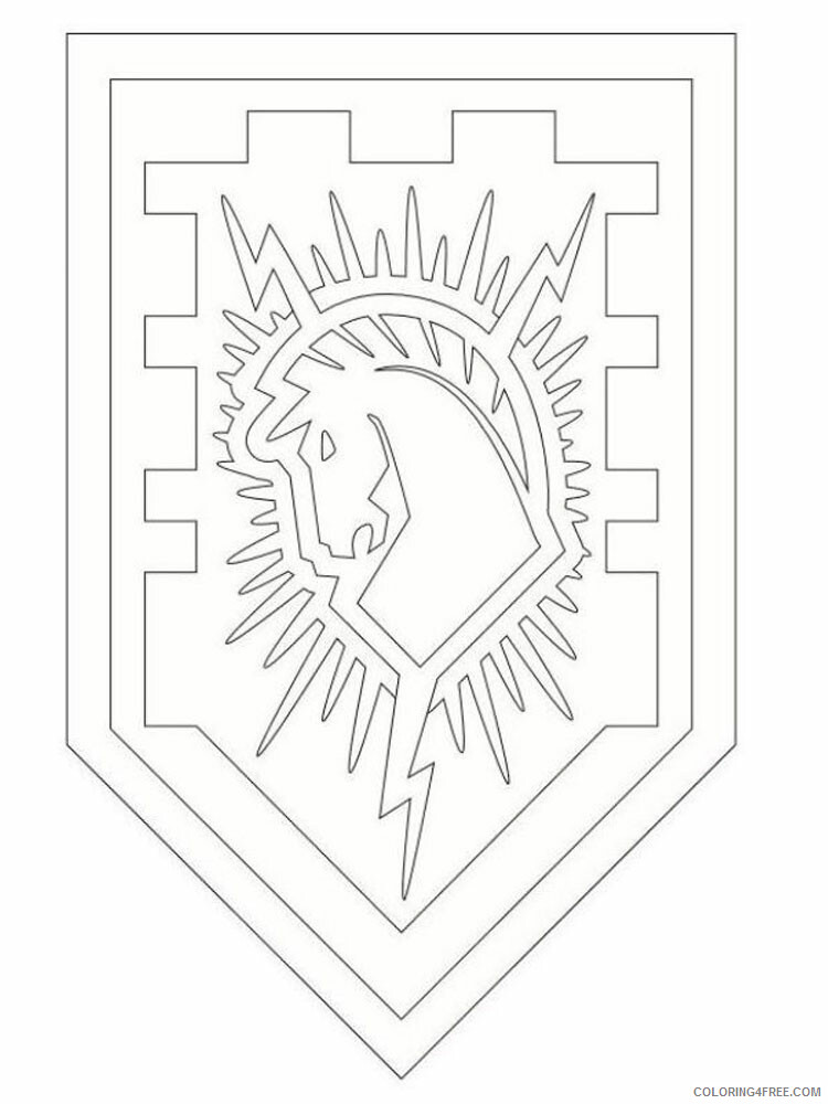 LEGO Nexo Knights Coloring Pages lego nexo knight for boys 33 Printable 2021 3835 Coloring4free