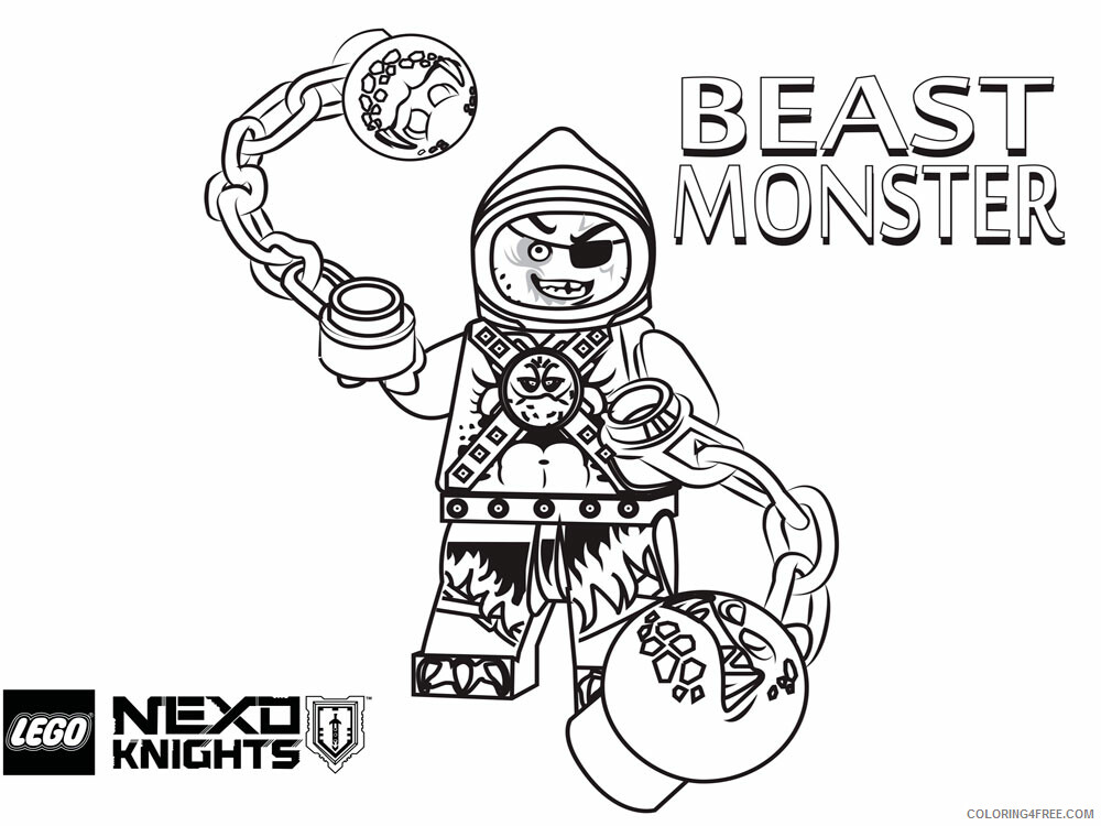 LEGO Nexo Knights Coloring Pages lego nexo knight for boys 5 Printable 2021 3838 Coloring4free