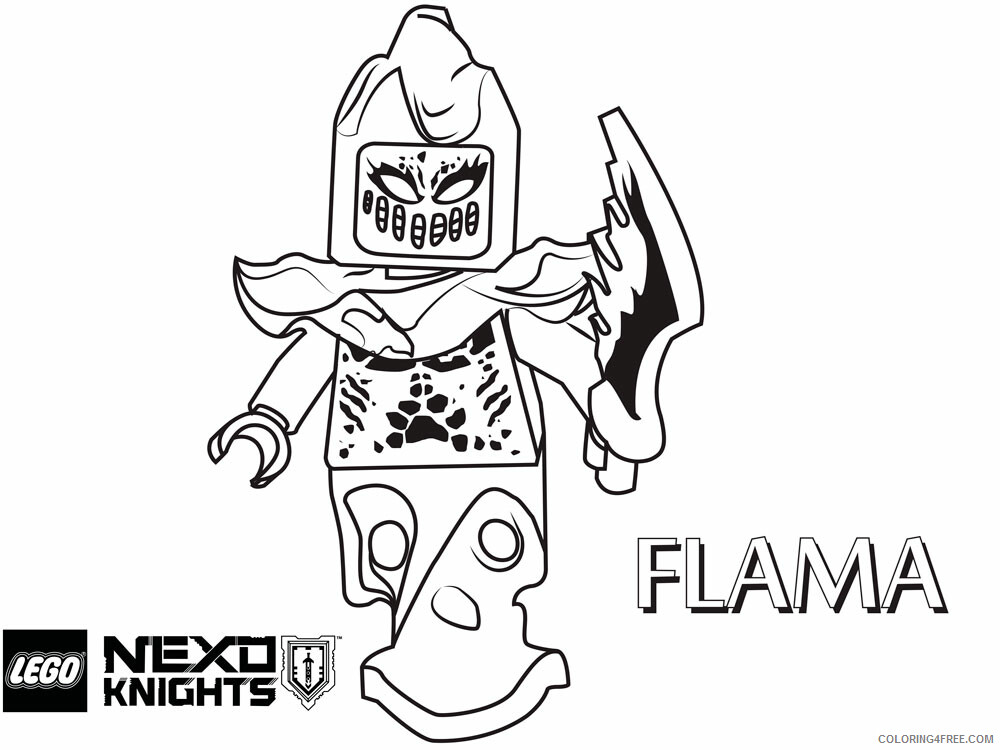 LEGO Nexo Knights Coloring Pages lego nexo knight for boys 9 Printable 2021 3842 Coloring4free