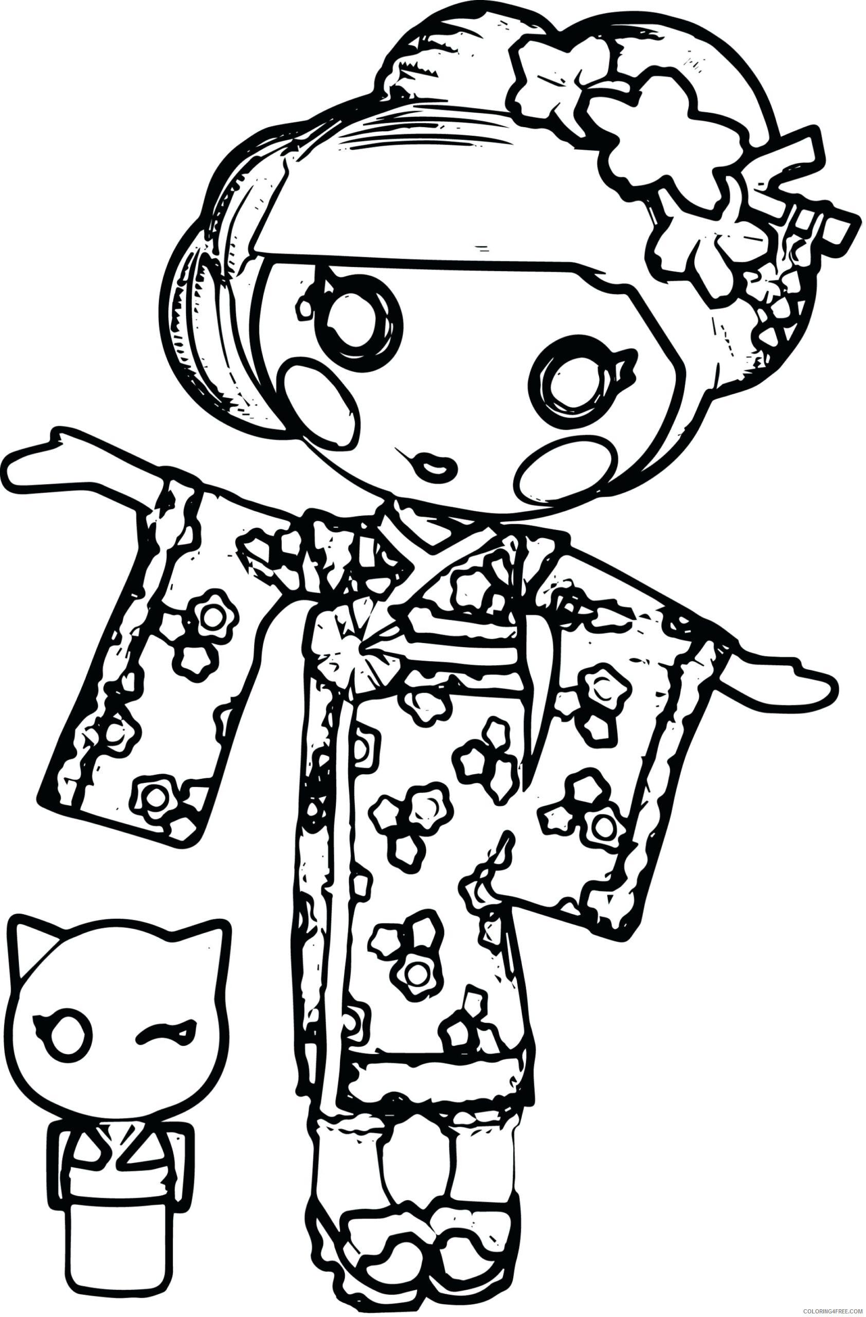 Lalaloopsy Coloring Pages Lalaloopsy Yuki Kimono Printable 2021 3769 Coloring4free
