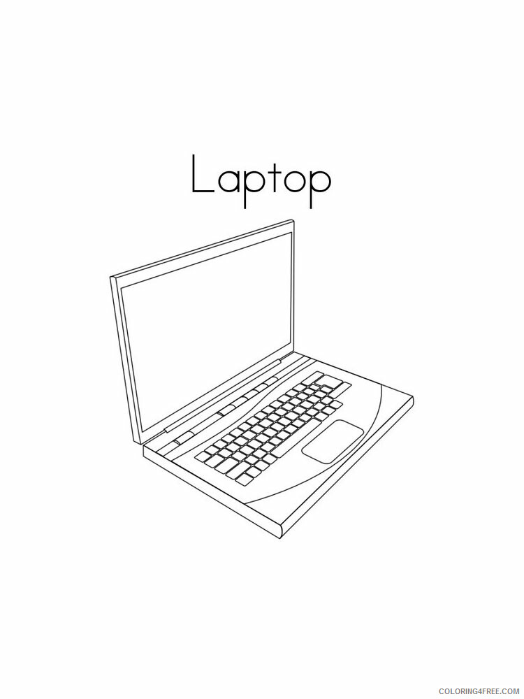 Laptop Coloring Pages Laptop 5 Printable 2021 3777 Coloring4free