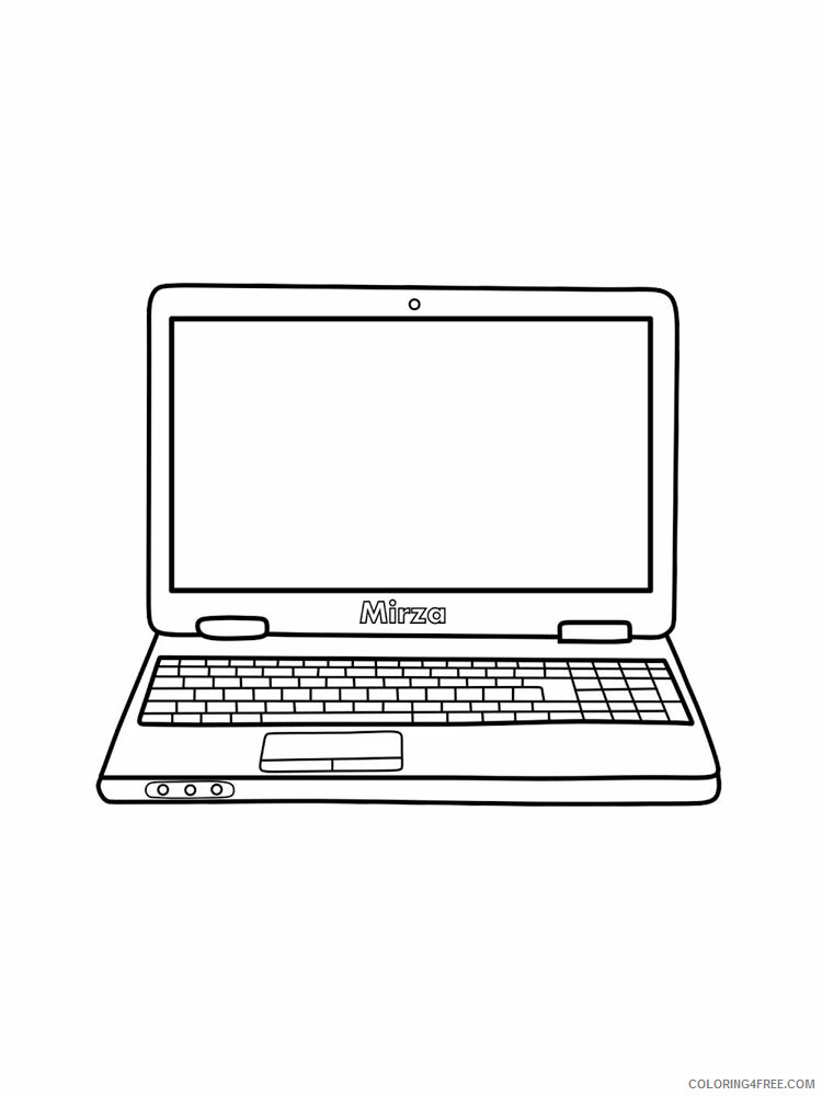 Laptop Coloring Pages Laptop 8 Printable 2021 3780 Coloring4free