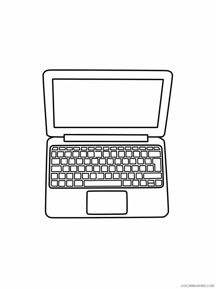 Laptop Coloring Pages Laptop 9 Printable 2021 3781 Coloring4free