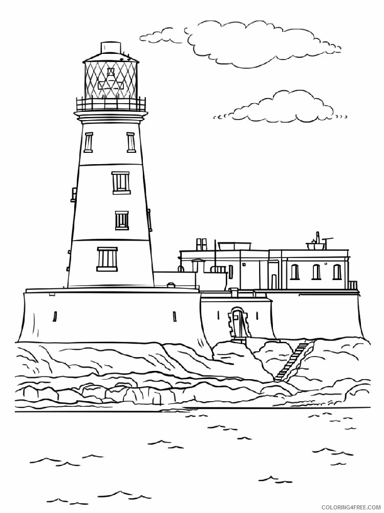 Lighthouse Coloring Pages Lighthouse 6 Printable 2021 3848 Coloring4free