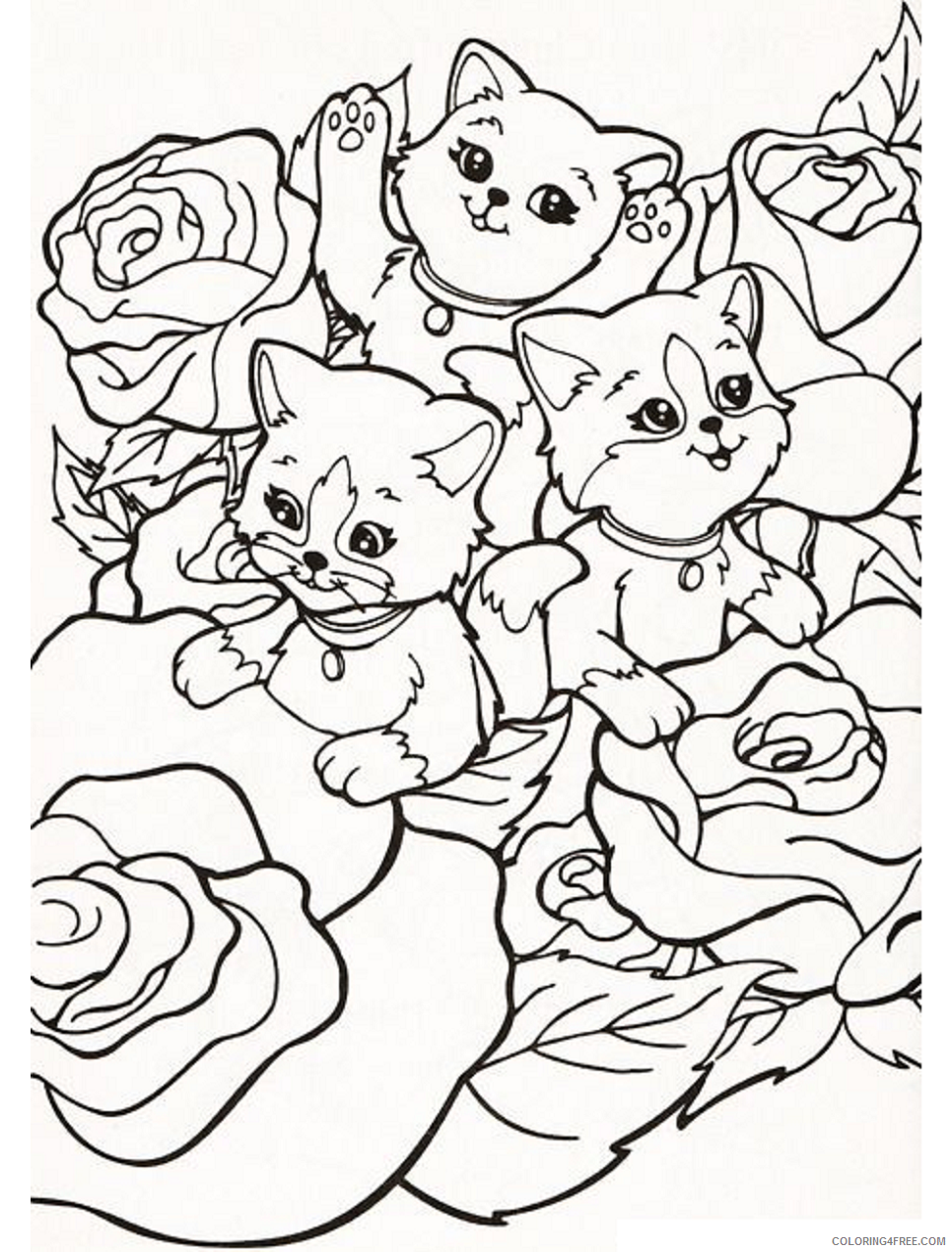 Lisa Frank Coloring Pages cats_lisa_frank Printable 2021 3856 Coloring4free