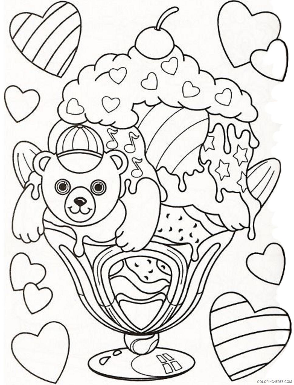Lisa Frank Coloring Pages hollywood_bear_lisa_frank Printable 2021 3860 Coloring4free