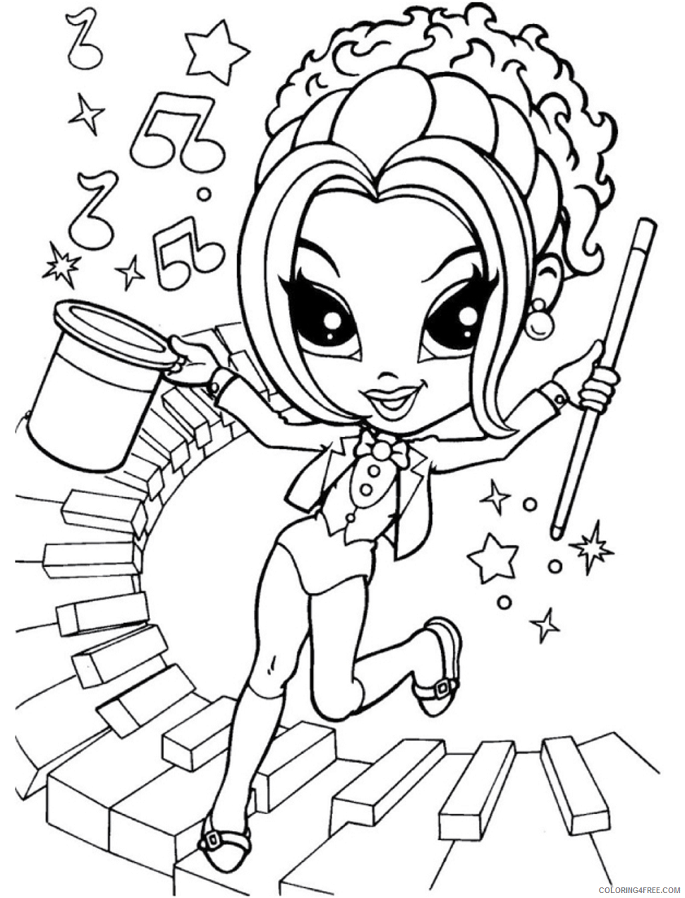 Lisa Frank Coloring Pages magician_lisa_frank Printable 2021 3881 Coloring4free