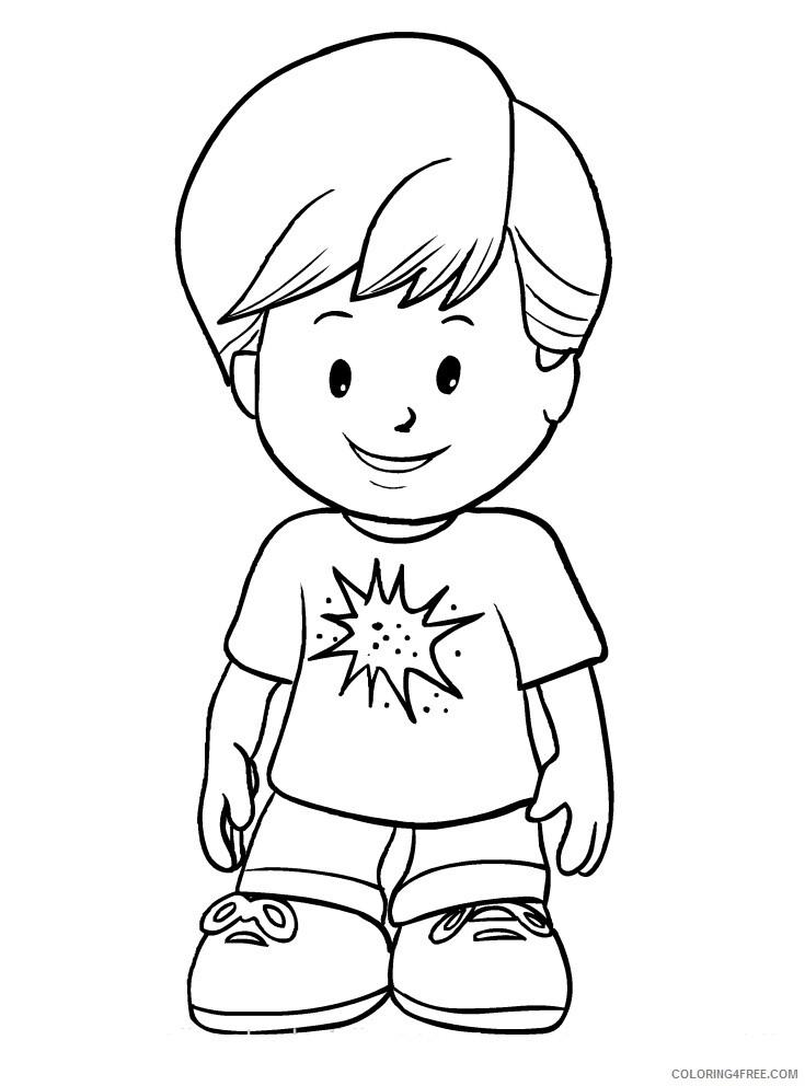 Little People Coloring Pages eddie Printable 2021 3884 Coloring4free
