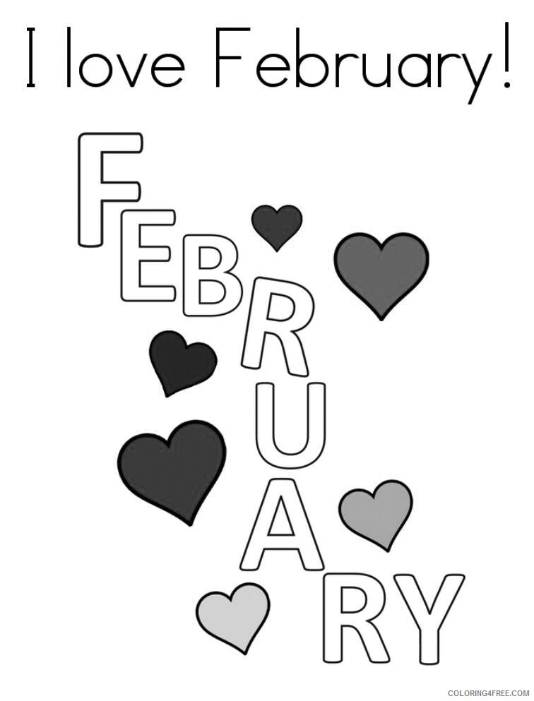 Love Coloring Pages I Love February Printable 2021 3909 Coloring4free