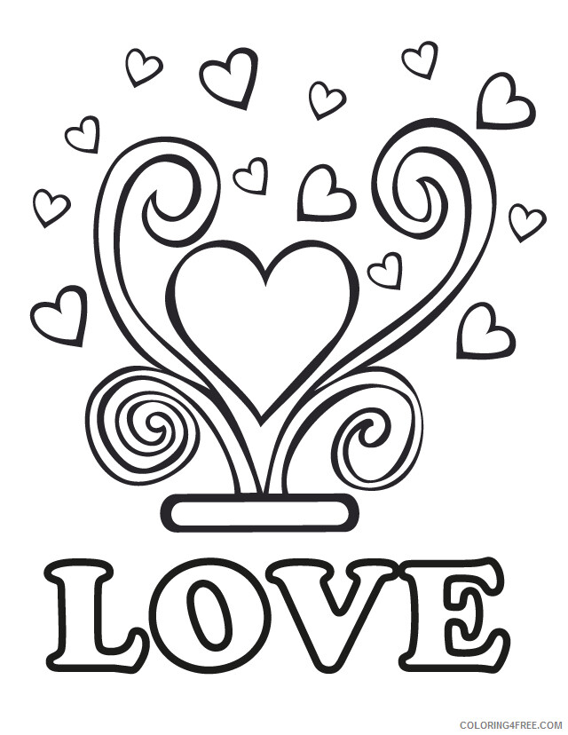 Love Coloring Pages LOVE Wedding Printable 2021 3939 Coloring4free