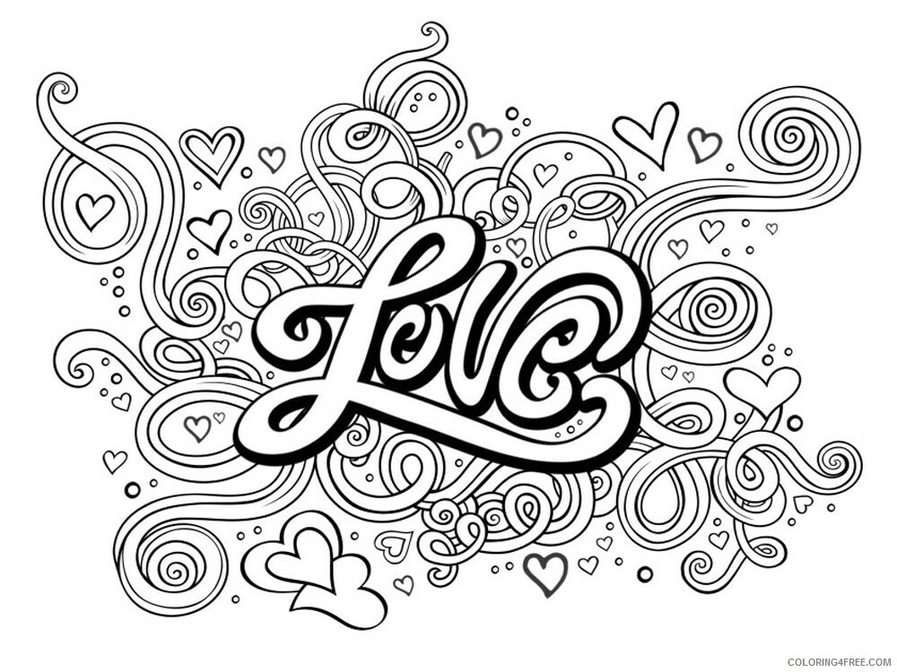 Love Coloring Pages Love 1 Printable 2021 3923 Coloring4free