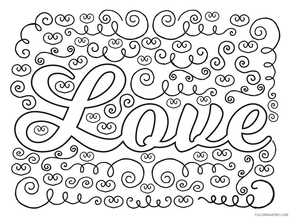 Love Coloring Pages Love 5 Printable 2021 3929 Coloring4free