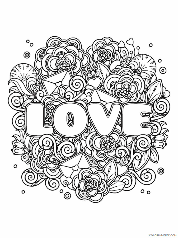 Love Coloring Pages Love 7 Printable 2021 3930 Coloring4free