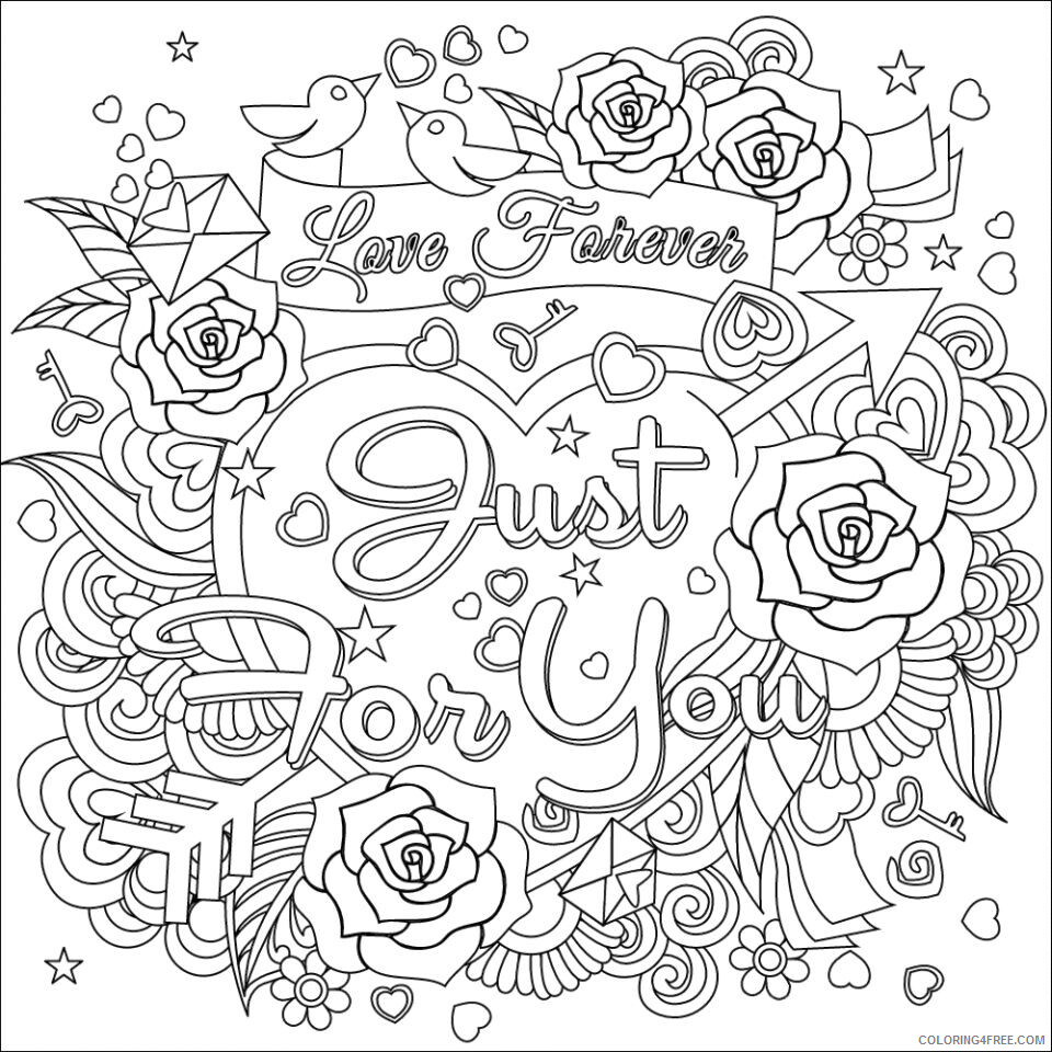 Love Coloring Pages Love Forever Printable 2021 3935 Coloring4free