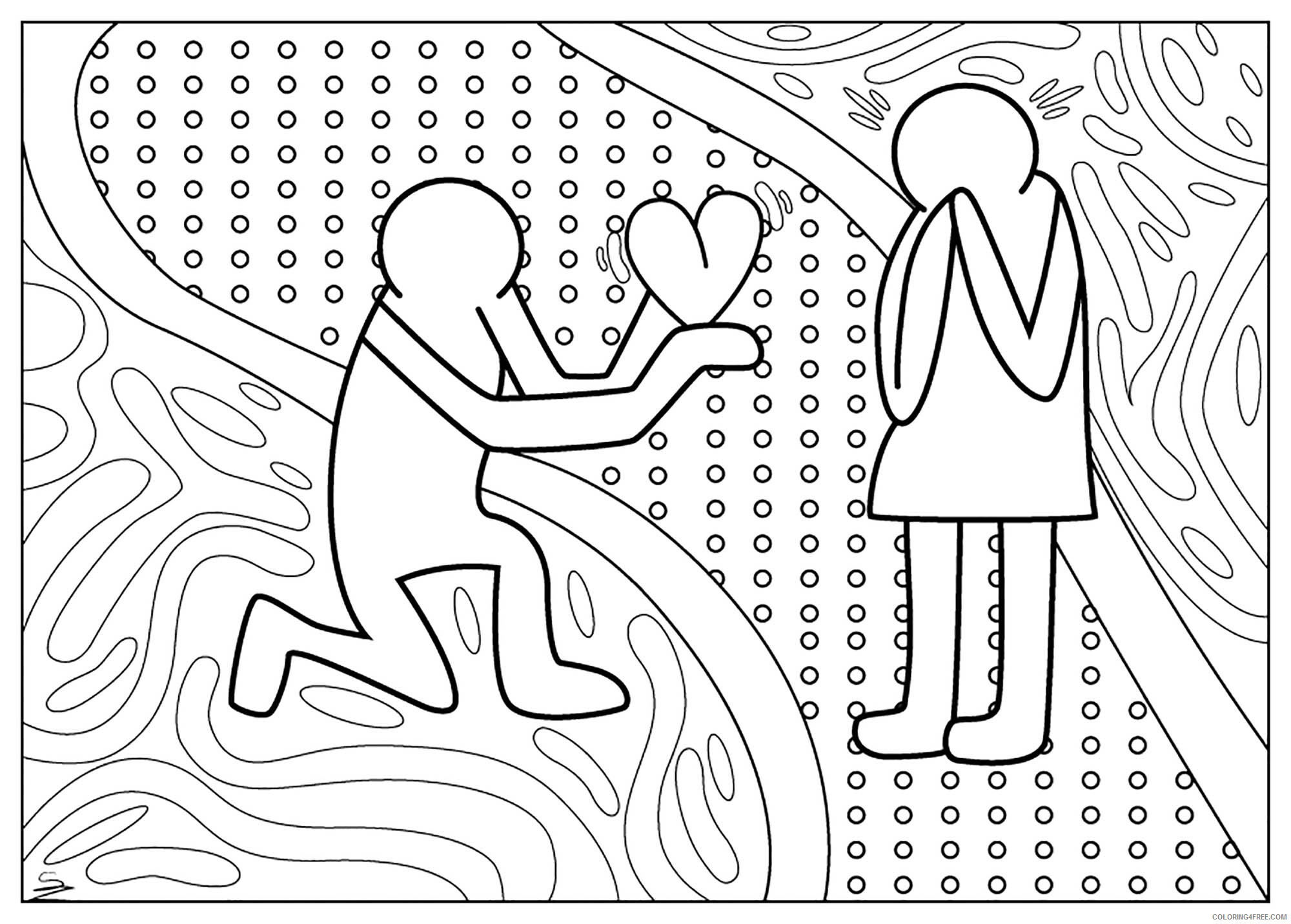 Love Coloring Pages Love Marriage Printable 2021 3937 Coloring4free