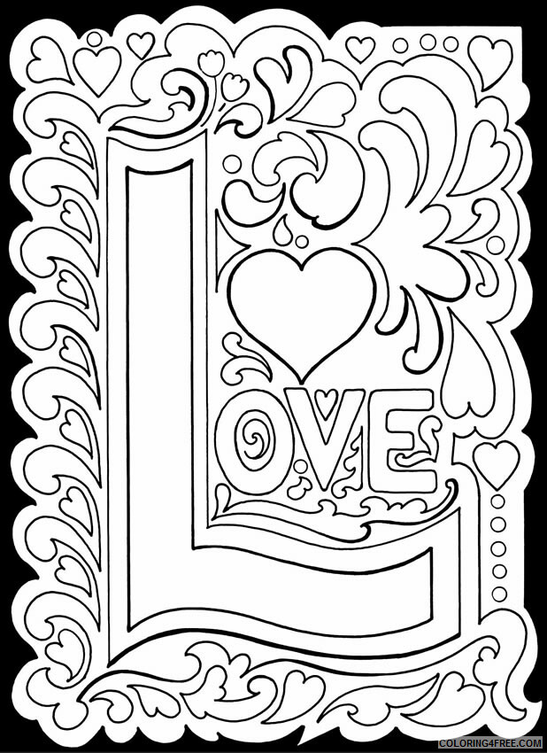Love Coloring Pages Love Printable 2021 3922 Coloring4free