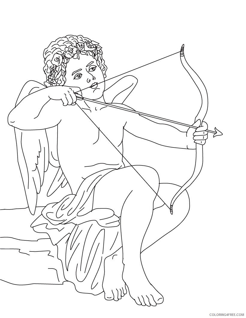 Love Coloring Pages eros greek god of love Printable 2021 3902 Coloring4free