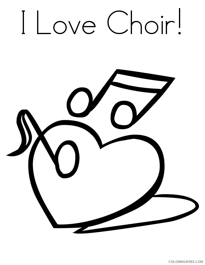 Love Coloring Pages i love choir Printable 2021 3906 Coloring4free
