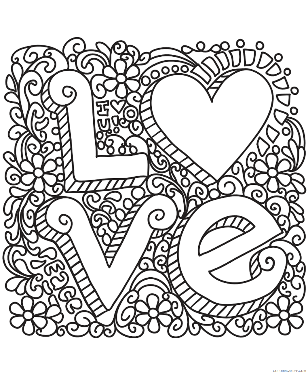 Love Coloring Pages love_doodle Printable 2021 3916 Coloring4free