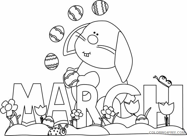March Coloring Pages March Bunny Printable 2021 3964 Coloring4free