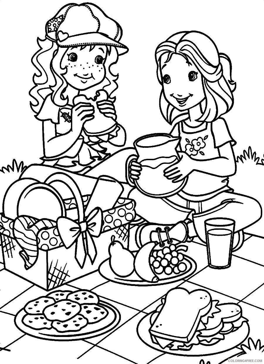 March Coloring Pages Picnic in March Printable 2021 3969 Coloring4free